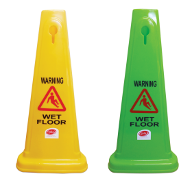 Safety Cone - Wet Floor Yellow - 60cm - Glomesh