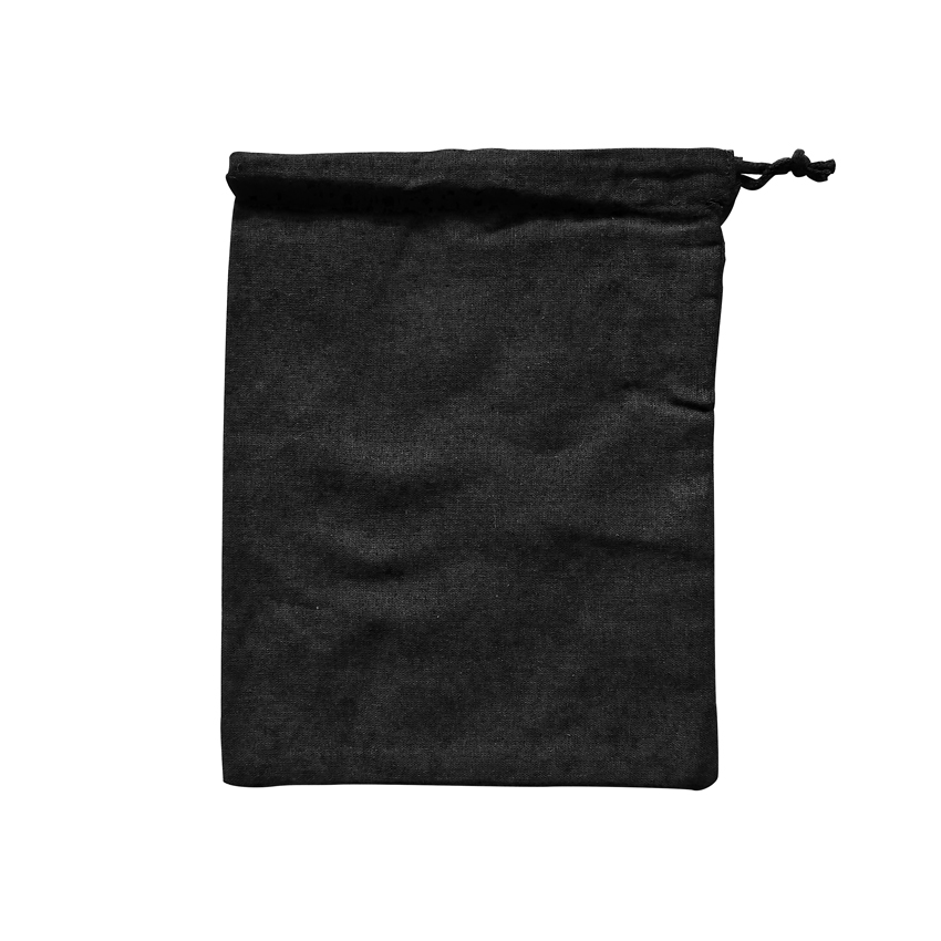 Medium Drawstring Bag Black - Ecobags