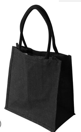 Laminated Supermarket Shopper Bag BLACK - Ecobags