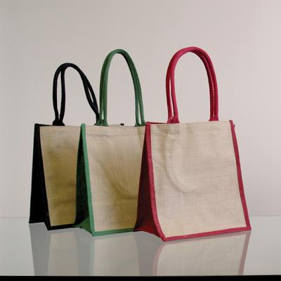 Natural Supermarket Shopper Bag (Red Gusset) - Ecobags