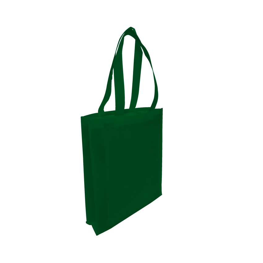 Tote with Gusset - FOREST GREEN- Ecobags