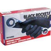 Nitrile Black Gloves  PowderFree - Black Rocket