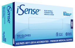 Nitrile Blue Medical PowderFree - iSense