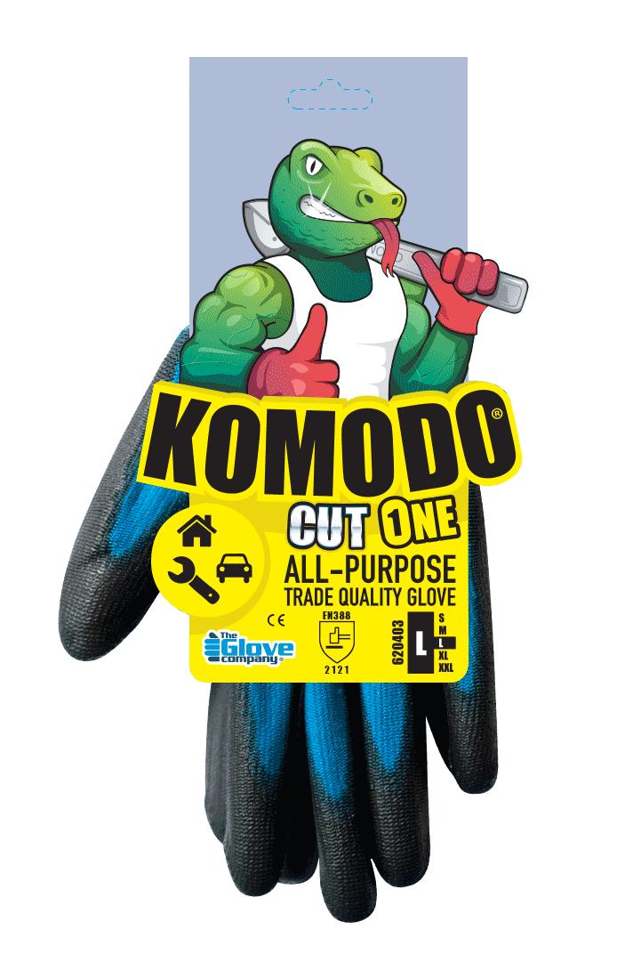 Cut 1 Gloves Individually Tagged - Komodo