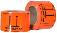 THIS WAY UP printed labels on a roll (660 labels/roll) - Pomona