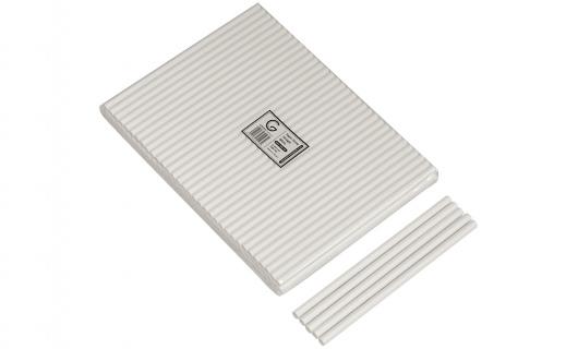 Paper Straws 8mm White - Green Choice