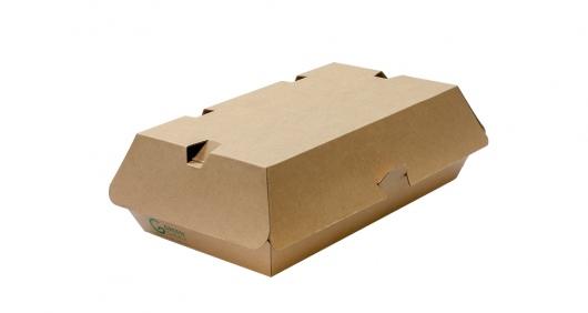 Burger Box Kraft F-Flute Medium - Green Choice