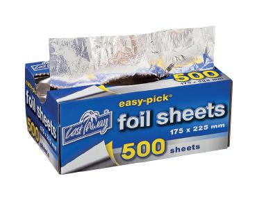 Easy-Pick' Heavy Duty Cut Foil Sheets Small 175x225mm - Castaway