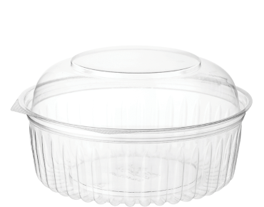 Eco-Smart' Clearview' Food Bowls 24 oz Hinged Dome Lid, Clear - Castaway