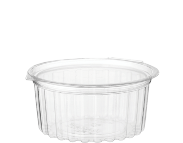 Eco-Smart' Clearview' Food Bowls 12 oz Hinged Flat Lid, Clear - Castaway