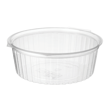 Eco-Smart' Clearview' Food Bowls 24 oz Hinged Flat Lid, Clear - Castaway