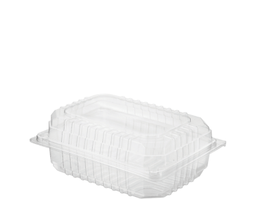 Eco-Smart' Clearview' Salad Pack Small, Hinged Lid, Clear - Castaway