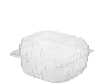 Eco-Smart' Clearview' Burger Pack Small, Hinged Lid, Clear - Castaway