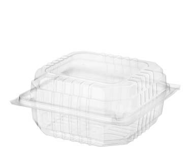 Eco-Smart' Clearview' Burger Pack Large, Hinged Lid, Clear - Castaway