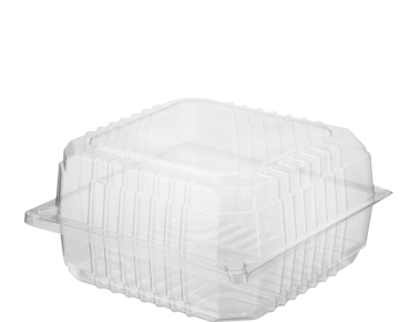 Eco-Smart' Clearview' Burger Pack Jumbo, Hinged Lid, Clear - Castaway