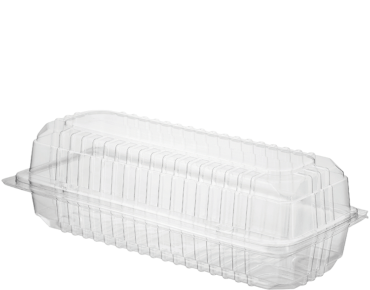 Eco-Smart' Clearview' Roll Pack Large, Hinged Lid, Clear - Castaway