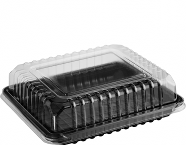 Eco-Smart' Clearview' Utility Pack Medium, Black Base & Clear Lid - Castaway