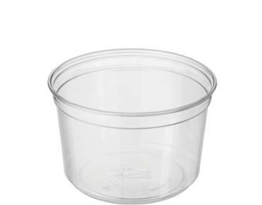Round Deli Containers 16 oz, Clear - Castaway