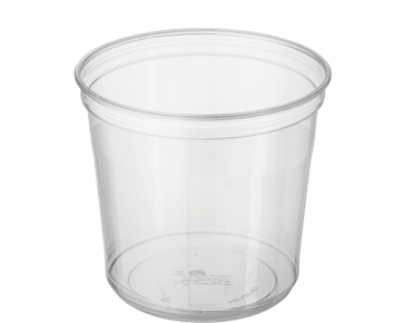 Round Deli Containers 24 oz, Clear - Castaway