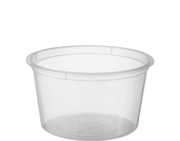 MicroReady' Small Round Takeaway Containers 4 oz Clear - Castaway