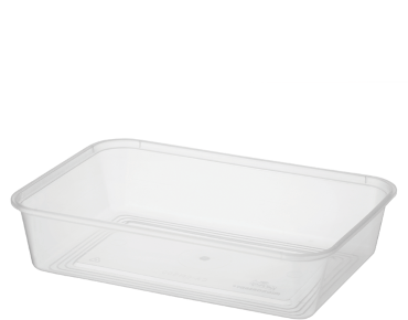 MicroReady' Rectangular Takeaway Containers 500 ml, Clear - Castaway