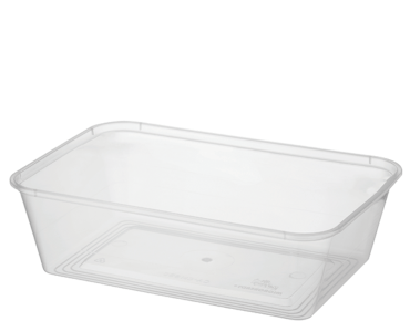 MicroReady' Rectangular Takeaway Containers 650 ml, Clear - Castaway