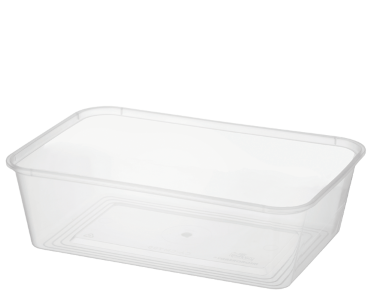 MicroReady' Rectangular Takeaway Containers 700 ml, Clear - Castaway