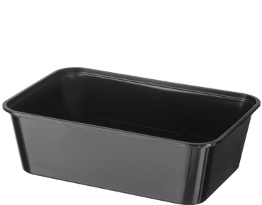 MicroReady' Rectangular Takeaway Containers 750 ml, Black - Castaway