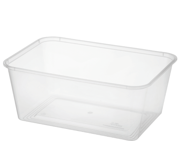 MicroReady' Rectangular Takeaway Containers 1000 ml, Clear - Castaway