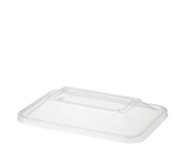 MicroReady' Rectangular Container Lids, Dome - One Lid Fits All, Clear - Castaway