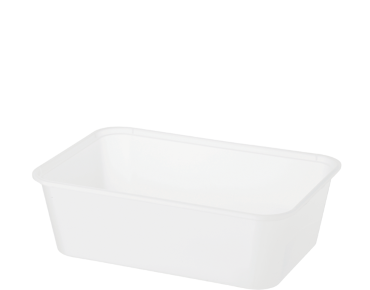 FreezaReady' Rectangular Containers, Medium 750 ml, Translucent - Castaway