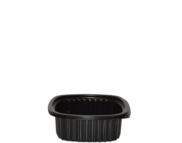Home Meal Replacement Medium Square Container 340 ml, Black - Castaway