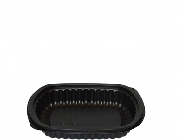 Home Meal Replacement Small Rectangular Container 450 ml, Black - Castaway