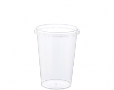 Locksafe' Small Round Tamper Evident Containers, 400 ml - Castaway