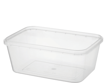 Locksafe' Rectangular Tamper Evident Containers 1000 ml, Clear - Castaway