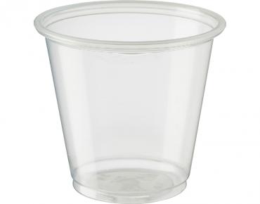 Medium Portion Control Cups Tal  105 ml, Clear - Castaway