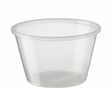 Large Portion Control Cups 120 ml, Clear - Castaway