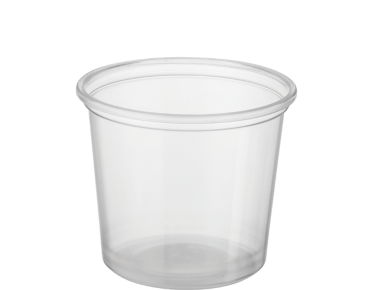 Reveal' Round Containers 150 ml  Medium, Clear - Castaway