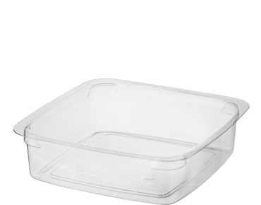 Reveal' Square Containers 125 ml Small, Clear - Castaway