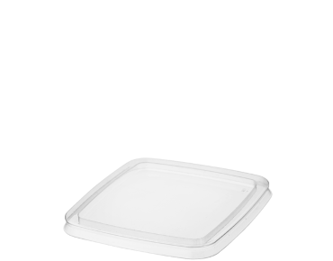 Reveal' Square Container Lids - One Lid Fits All, Clear - Castaway