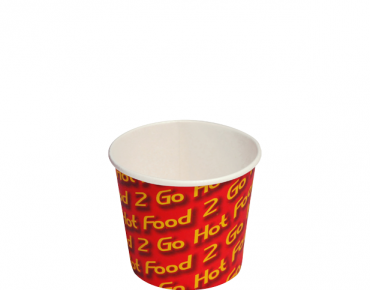 Small Chip Cups 8 oz - Hot Food 2 Go, Sleeved - Castaway