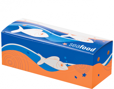 Medium Seafood Snack Boxes, Printed 'Seafood', Bulk Packed - Castaway