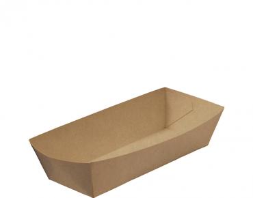Rediserve' Brown Kraft Paper Hot Dog Trays Hot Dog, Brown Kraft - Castaway