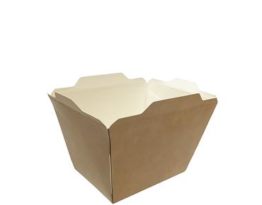 Fuzione' Food Tray, Small 522 ml, Brown kraft - Castaway
