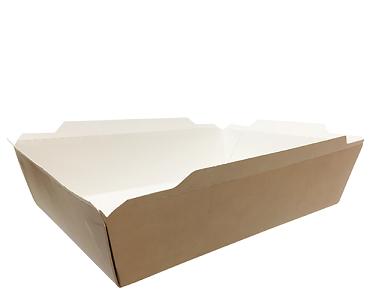 Fuzione' Food Tray, Large 1053 ml, Brown kraft - Castaway