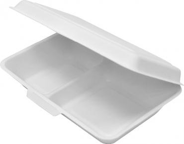Enviroboard' Dinner Packs, 2 Compartment, Large White - Castaway