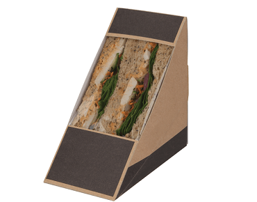Rear Loading Sandwich Wedge (2 sandwiches), Slate Grey / Brown Kraft - Castaway