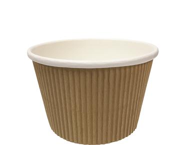 Savori' Textured Hot Pot 450 ml, Brown kraft - Castaway