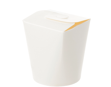 Round Paper Meal Pail 16oz, White - Castaway
