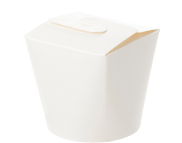 Round Paper Meal Pail 26oz, White - Castaway